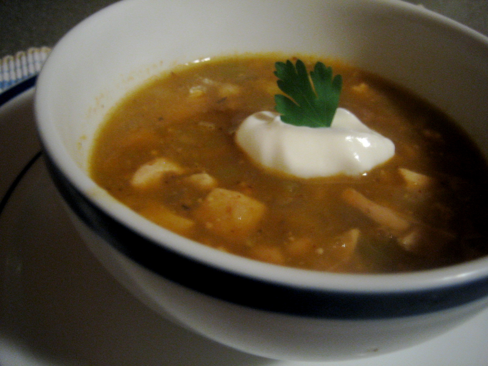 Turkey Chili Verde | Soup or Salad Blog